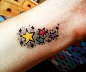 small, tattoo, and star image