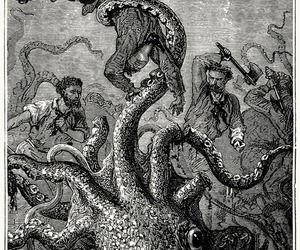 art, books, and jules verne image