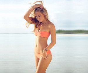 bathing suit and blonde image