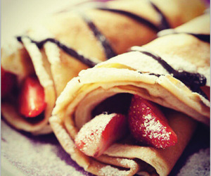 chocolate, crepes, and eat image