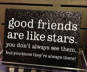 friends, quote, and stars image