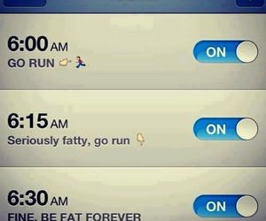 alarm, funny, and run image