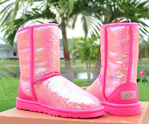 pink, ugg, and uggs image