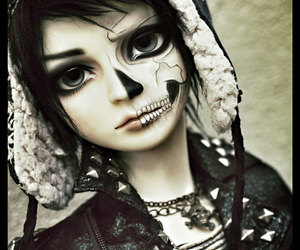bjd, dark, and doll image