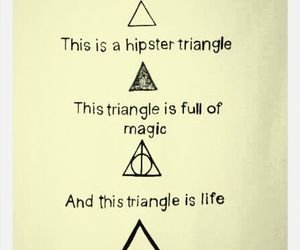 triangle, hipster, and magic image