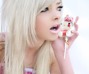 blonde, emo, and hello kitty image