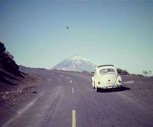 car, road, and mountains image
