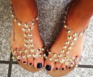 shoes, nails, and sandals image