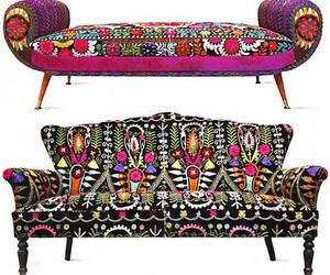 chair, couch, and moroccan image