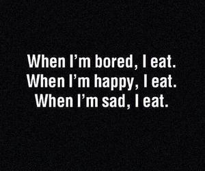 eat, bored, and sad image