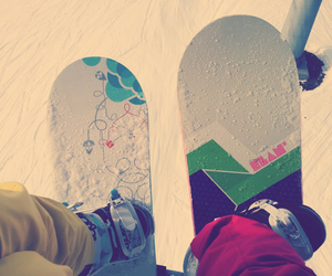 snow, snowboarding, and skilager image