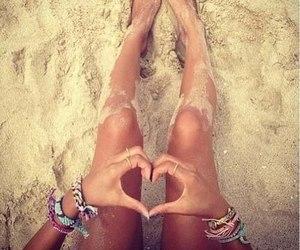 beach, sand, and bracelets image