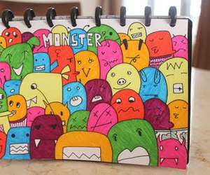 doodle and monster image
