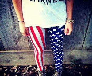 chanel, usa, and leggings image