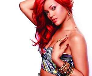 beautiful, red hair, and rihanna image