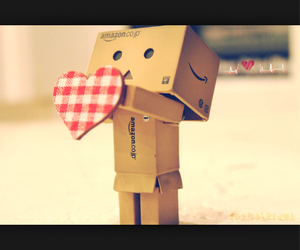 danbo, white, and heart image