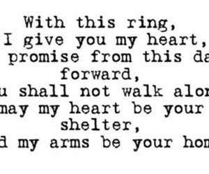 love, quote, and ring image