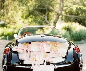 car, wedding, and just married image