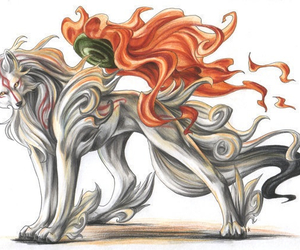 anime, okami, and sun image