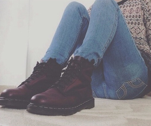 jeans, shoes, and grunge image