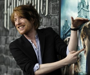 bill weasley, harry potter, and domhnall gleeson image