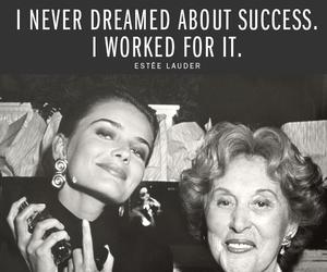 Dream, estee lauder, and success image