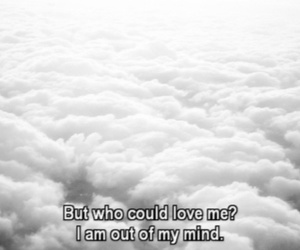 love, quotes, and clouds image