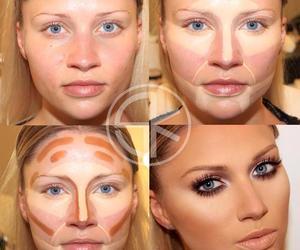 tutorial, makeup tutorial, and contouring image