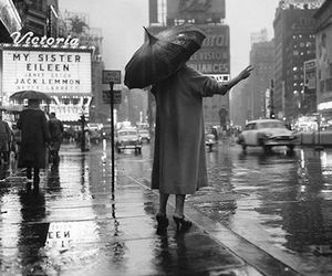 1955, new york, and rain image