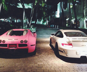 car, pink, and white image