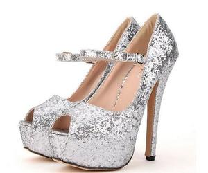 high heels, glitzer, and damenschuhe image