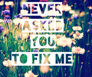 fix me, flowers, and grunge image