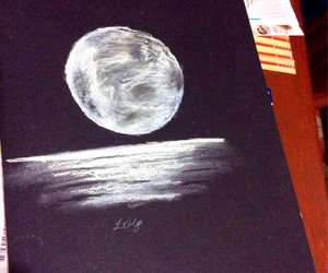 art, black and white, and chalk image