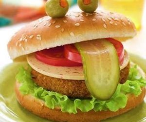 funny, burger, and food image