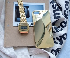 american apparel, gold, and notebook image