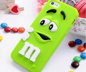 iphone, m&m, and case image