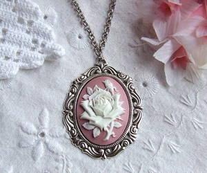 rose, cameo, and vintage image