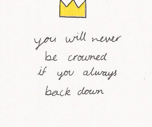 quote, crown, and life image