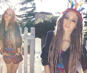 girl, dreads, and dreadlocks image