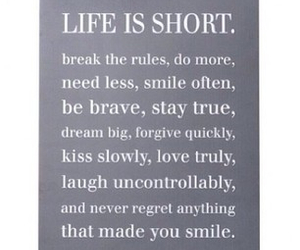 brave, smile, and life quotes image