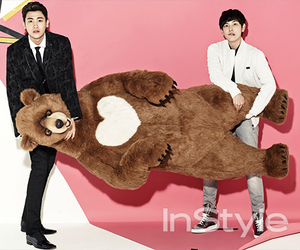 big bear, heart, and instyle image