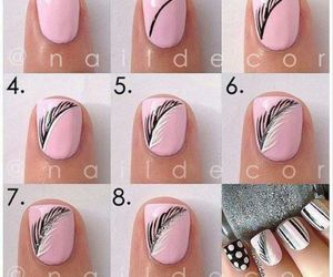 girl, tutorial, and uñas image