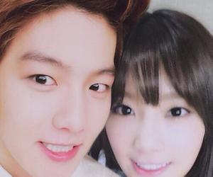 baekhyun, exo, and taeyeon image