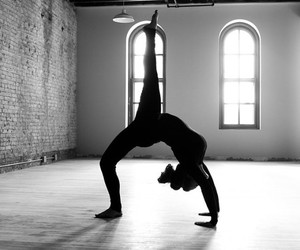 dance, yoga, and black and white image