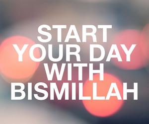 islam, allah, and bismillah image