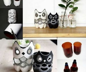 diy, owl, and bottle image