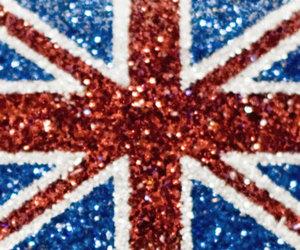 flag, glitter, and uk image