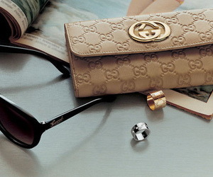 gucci, sunglasses, and wallet image
