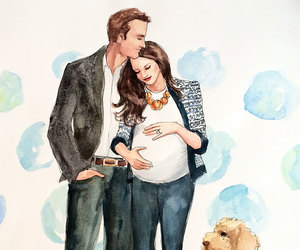 family, pregnant, and dog image