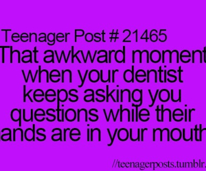 teenager post and dentist image